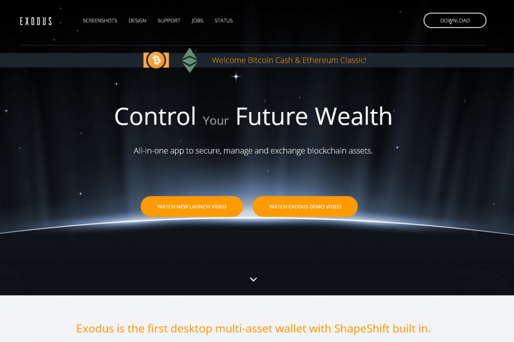 Exodus Home page