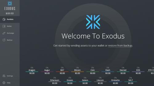 Exodus Landing Page
